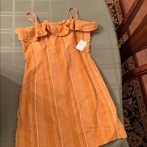 Tan striped Forever 21 dress